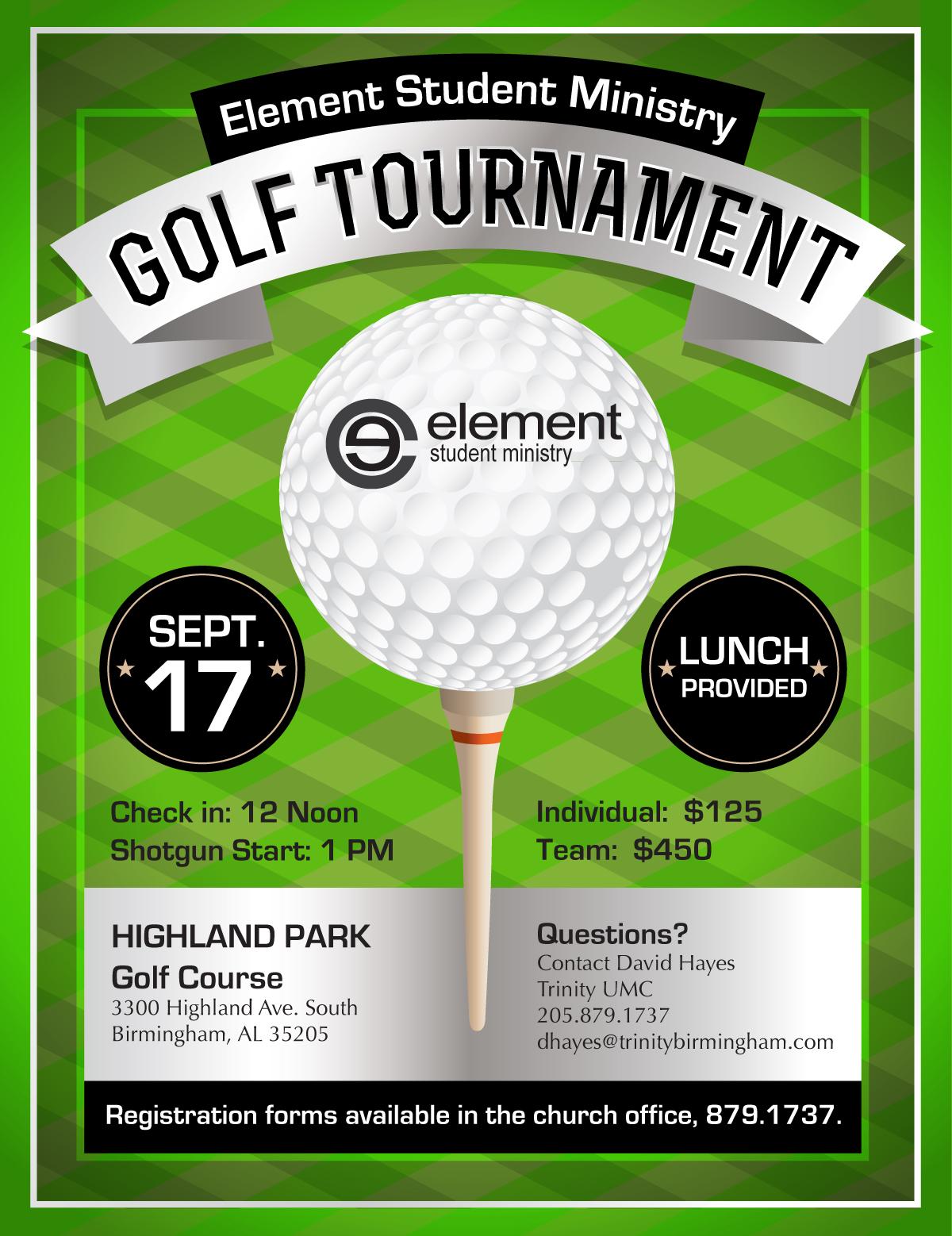 Student Ministry Golf Tournament Trinity United